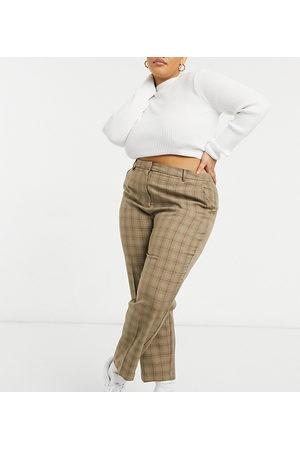ASOS Pantalones de traje a cuadros de ASOS DESIGN Curve-Multicolor
