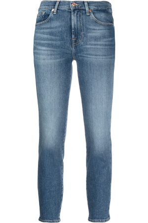 7 for all Mankind Vaqueros capri skinny de talle medio