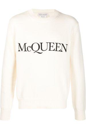 Alexander McQueen Jersey de punto con logo bordado