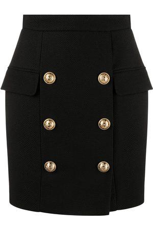 Balmain Minifalda con botones
