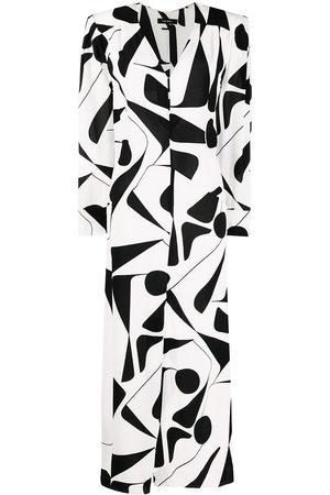 Isabel Marant Vestido con motivo abstracto