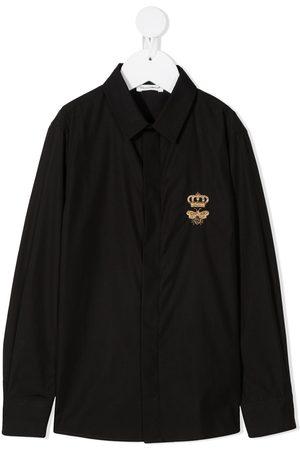 Dolce & Gabbana Camisa con logo de manga larga