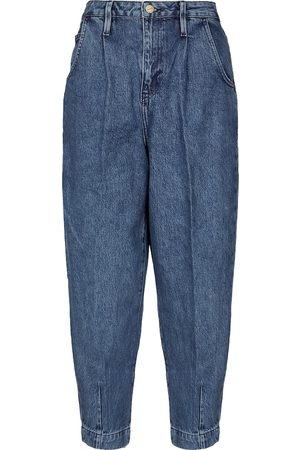 Frame Jeans Pleated Barrel Leg cropped
