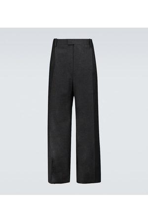 Bottega Veneta Pantalones de franela de lana