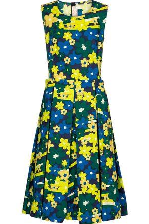 Marni Mujer Casual - Vestido midi de algodón floral