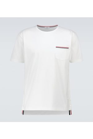 Thom Browne Camiseta de algodón de manga corta
