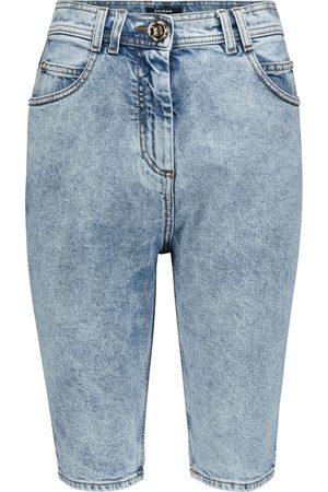 Balmain Shorts ciclistas de jeans