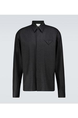 Bottega Veneta Camisa de franela de lana