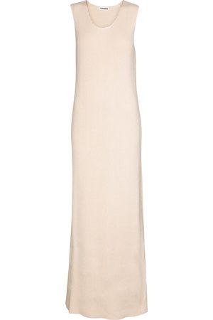 Jil Sander Vestido largo de algodón