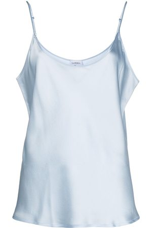La Perla Mujer Pijamas - Top de satén con tirantes y cuello redondo