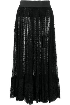 Dolce & Gabbana Falda midi de fil-coupé