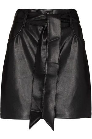 Nanushka Mujer Minifaldas - Minifalda de piel artificial