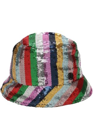 "Le Mont St Michel | Mujer Sombrero Bucket ""souna"" A Rayas Con Lentejuelas S"