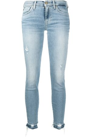 7 for all Mankind Mujer Cintura alta - Vaqueros capri skinny