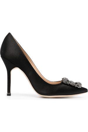 Manolo Blahnik Mujer Tacón - Zapatos Hangisi con cristal