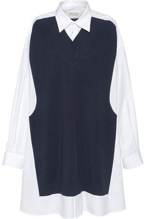 Maison Margiela Mujer Casual - | Mujer Vestido Camisero Largo De Algodón /marino Xs