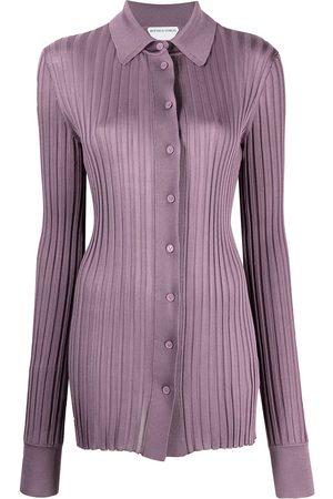 Bottega Veneta Camisa de canalé con manga larga