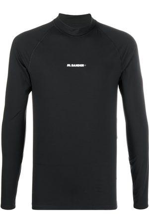 Jil Sander Camiseta con logo de manga larga
