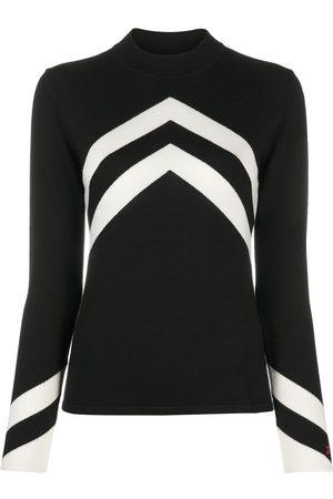 Perfect Moment Mujer Jerséis y suéteres - Jersey de punto chevron con cuello alzado