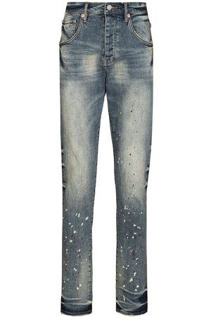 Purple Brand Hombre Pitillos - Vintage Spotted tapered jeans