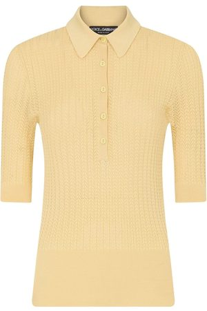 Dolce & Gabbana Mujer Polos - Knitted polo shirt