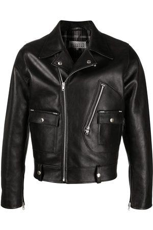 Maison Margiela Notched-lapel leather jacket