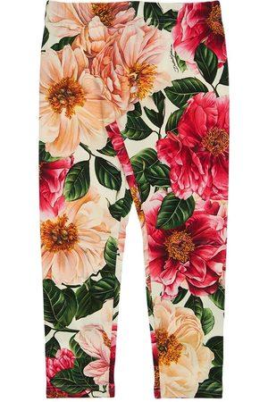Dolce & Gabbana | Niña Pantalones De Algodón Interlock Estampados 8a