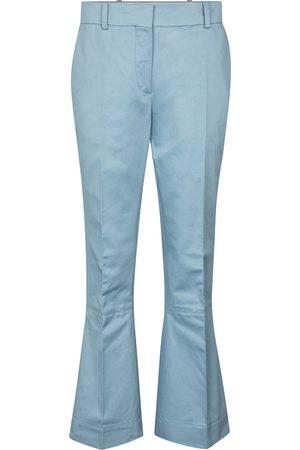 Marni Pantalones flared de algodón y lino
