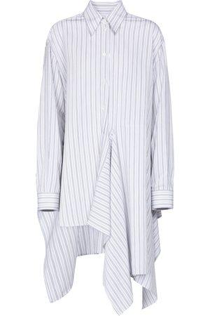 MM6 MAISON MARGIELA Camisa asimétrica a rayas