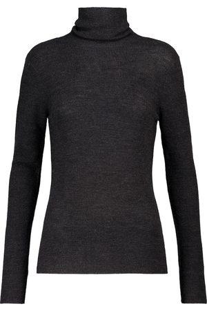 Ganni Jersey de lana merino de cuello alto
