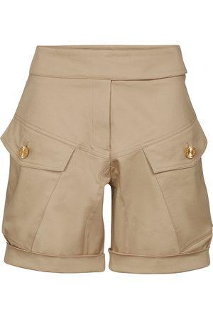 ALEXANDRE VAUTHIER Shorts cargo de algodón y tiro alto