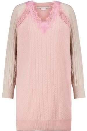 Stella McCartney Vestido de lana con encaje