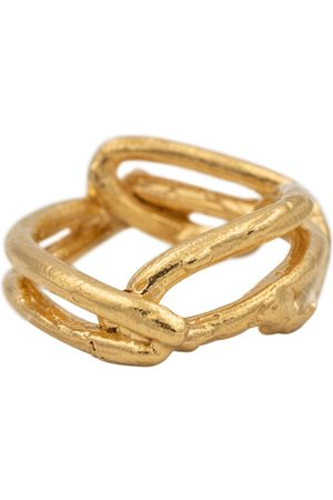 Alighieri Anillo The Beginning of the Plait de oro vermeil de 24 ct