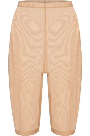 DAVID KOMA Mujer Pantalones cortos - Shorts de punto fino de malla