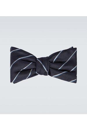 Alexander McQueen Corbata de moño de seda a rayas