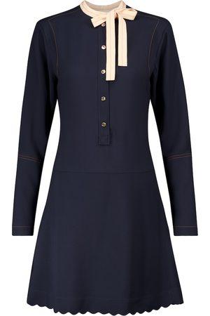 Chloé Vestido corto de cady con lazo