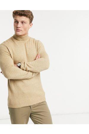 ASOS Jersey beis con cuello vuelto de lana suave de -Tostado
