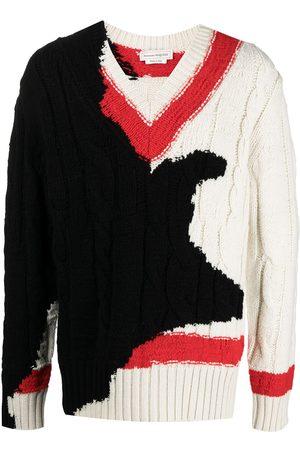 Alexander McQueen Hombre Jerséis y suéteres - Jersey en intarsia con motivo