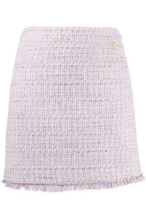 Twin-Set Falda recta de tweed