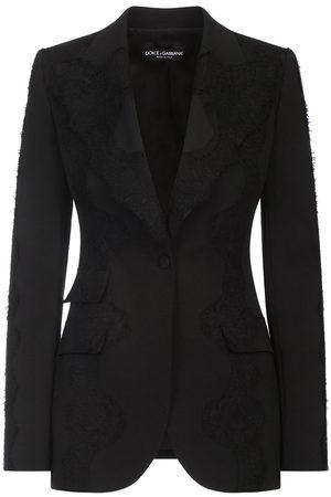 Dolce & Gabbana Blazer con capa de encaje