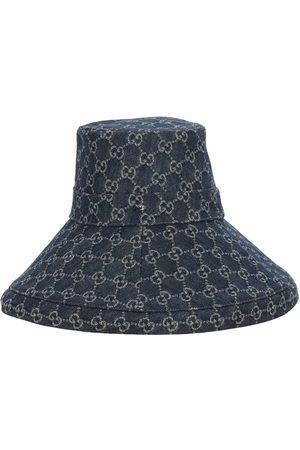 "Gucci Mujer Cintura alta - | Mujer Sombrero De Denim Con Logo ""gg"" Xs"