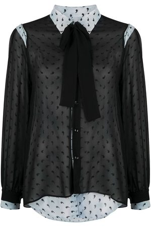 Maison Margiela Camisa estampada con capas translúcidas
