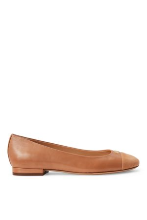 Lauren by Ralph Lauren Mujer Planos - Gaines Nappa Leather Flat