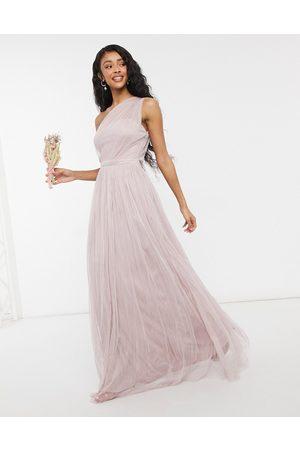 ANAYA Vestido largo asimétrico de tul para dama de honor With Love de