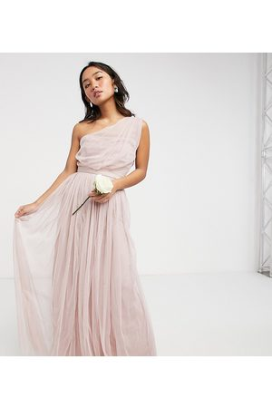 ANAYA Vestido largo asimétrico de tul para dama de honor Anaya With Love Petite
