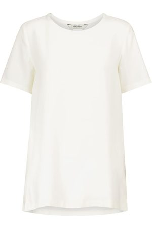 Max Mara Camiseta Oria de lona de seda