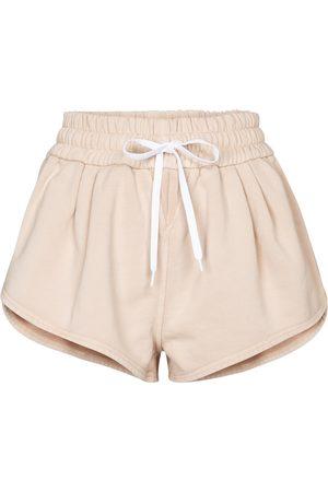 Miu Miu Shorts de punto fino con logo