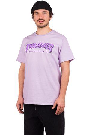 Thrasher Outlined T-Shirt violeta