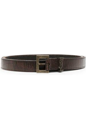 Saint Laurent Hombre Cinturones - Cinturón con hebilla del monograma