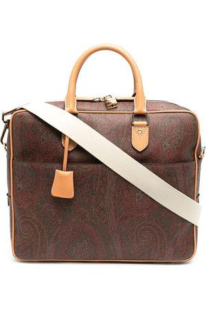 Etro Hombre Maletines y bolsas de trabajo - Maletín con motivo de cachemira en jacquard